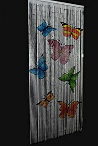 Beaded door curtains bamboo - Butterfly Beaded Bamboo Door Curtain Amazon Co Uk Kitchen Amp Home