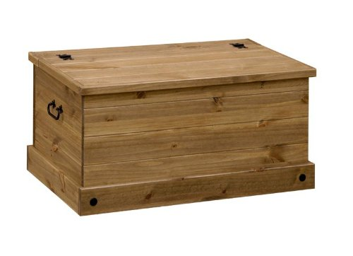 MEXICAN WAXED PINE SOLID STORAGE BOX / TOY BOX / OTTOMAN, FROM CENTURION PINE