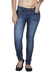 Soie Women's Slim Fit Jeans (D-03_Blue_32)