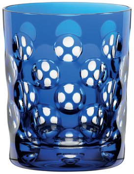 Nachtmann Skin Tumbler/Double Old Fashioned Glass, Cobalt Blue