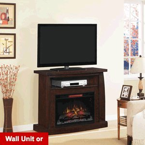 Classicflame Boomerang Infrared Electric Fireplace Media Console In Midnight Cherry - 26De6979-X144