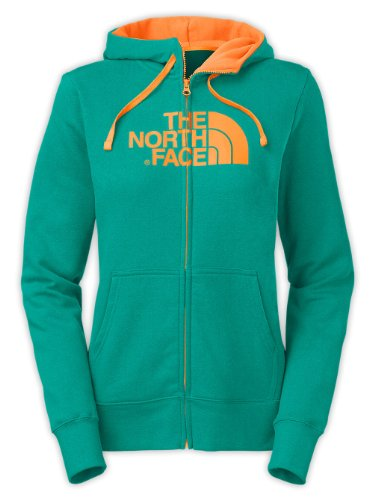 The North Face Women's Half Dome Full Zip Hoodie Jaiden Green / Vitamin C Orange Small at Sears.com