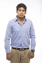 VinaraTrends Blue(Light) Color Cotton Shirt For Men (38)