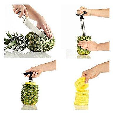 LWW Kitchen Stainless Steel Easy Pineapple Fruit Corer Slicer