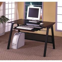 Buy Low Price Comfortable Computer Desk in Dark Walnut – Coaster (B00409GE70)