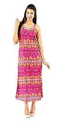 Old khaki Women / Girls Party Wear One Piece Multicolour Maxi Dress