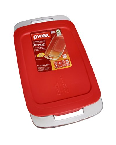 Pyrex  Easy Grab 2-qt Oblong with Red Plastic Cover