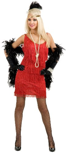 Fashion Flapper (Red) Plus Costume