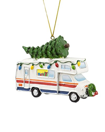 Camper with Christmas Tree Ornament
