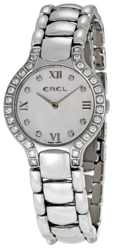 Ebel Beluga Stainless Steel & Diamond Womens Luxury Watch 9157428/982050