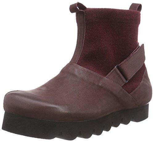 Think!NIX Boot - Stivaletti a gamba corta senza chiusura, imbottitura leggera donna , Rosso (Rot (CHIANTI/KOMBI 35)), 40