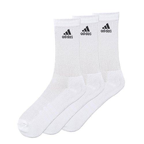 adidas 3S - Calze Performance Crew C, 3 paia Bianco bianco 39-42