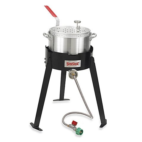 Bayou Classic 22 Outdoor Use Durable, Efficient, Imported, Fish Cooker with 10-Quart Aluminum Fry Pot (10qt Fry Pot compare prices)