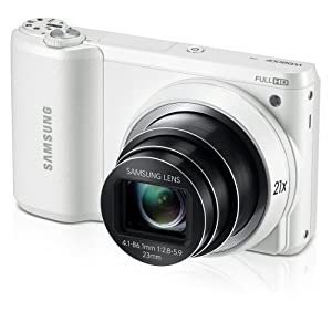 "Samsung WB800F 16.3MP CMOS Smart WiFi Digital Camera with 21x Optical Zoom, 3.0"" Touch Screen LCD and 1080p HD Video (White) (Discontinued by Manufacturer)"