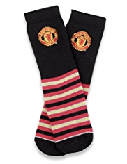 Cotton Rich Manchester United Terry Slipper Socks