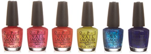 OPI Smalto per Unghie Mini Kit, Summer Brights, 6 x 3.75 ml