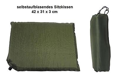selbstaufblasendes Sitzkissen Thermokissen Kissen oliv-grün 42x31x3cm von Inet-Trades GmbH bei Gartenmöbel von Du und Dein Garten