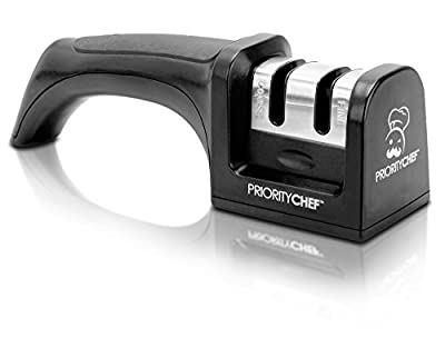 PriorityChef Knife Sharpener, 2 Stage Sharpening System for Knives, Black by Priority Chef :: Combat Knife :: Tactical Knife :: Hunting Knife :: Fixed Blade Knife :: Folding Blade Knife
