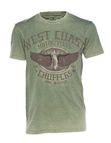 West Coast Choppers T-Shirt Wings Logo Tee, Farbe:green/black;Größe:L