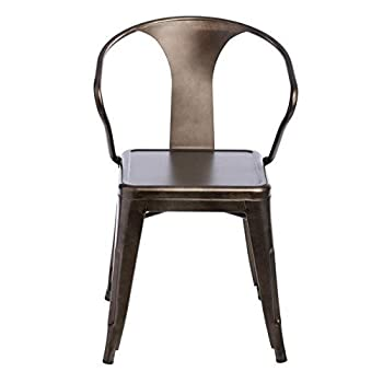 Tabouret Stacking Chair (Set of 4). This Set Of Dining Room Chairs Is Perfect For Adding A Vintage Look To Your Home. Crafted With A Solid Steel Construction And Coated With A Scratch-Resistant Finish These Chairs Will Last In Quality In Style.