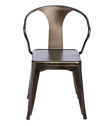 Tabouret Stacking Chair (Set of 4). This Set Of Dining Room Chairs Is Perfect For Adding A Vintage Look To Your Home. Crafted With A Solid Steel Construction And Coated With A Scratch-Resistant Finish These Chairs Will Last In Quality In Style. 1