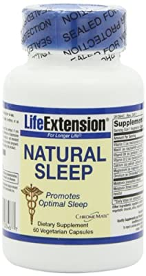 Life Extension Natural Sleep 3mg Capsules Vegetarian, 60-Count