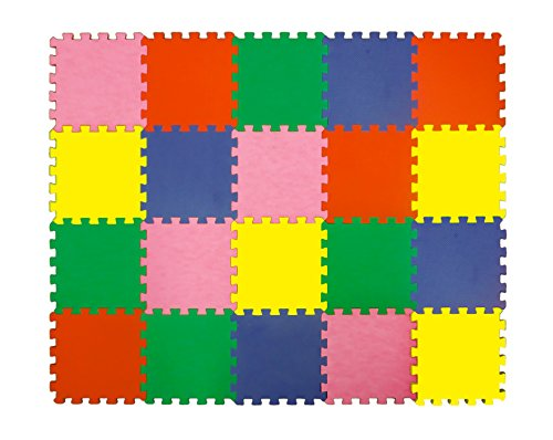 Angels-Large-Foam-Puzzle-Mats-20-Colorfull-Tiles-Soft-Mat-Multi-Use-Create-Build-A-Safe-Playing-Area-Carpet-This-Non-Toxic-Interlocking-eva-Floor-for-Children-Toddler-Infant-Play-Zone-Baby-Room