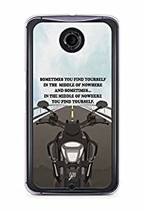YuBingo Find Yourself Designer Mobile Case Back Cover for Google Nexus 6