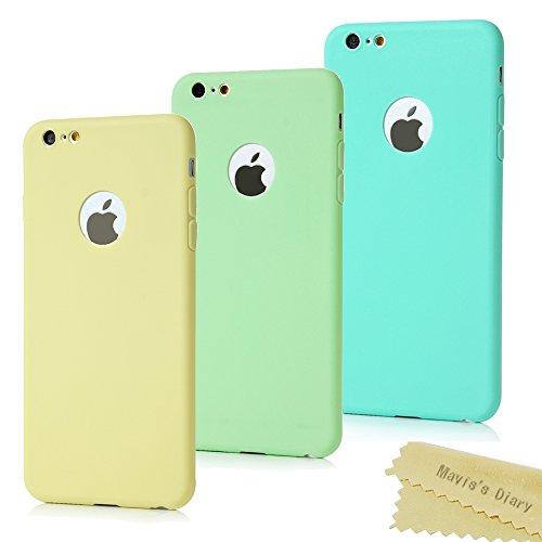 3x-iPhone-6-Plus6s-Plus-Custodia-in-Gel-TPU-Silicone-Cover-Maviss-Diary-morbido-protettiva-TPU-Case-Cover-Custodia-per-iPhone-6-Plus-6s-Plus-55-pollice-Resistente-ai-graffi-Colore-Blugialloverde