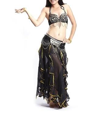 Amazon.com: BellyLady Gypsy Black Belly Dance Costume