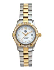 TAG Heuer Women's WAF1450.BB0825 Aquaracer Diamond Two-Tone Mother-of-Pearl Dial Watch