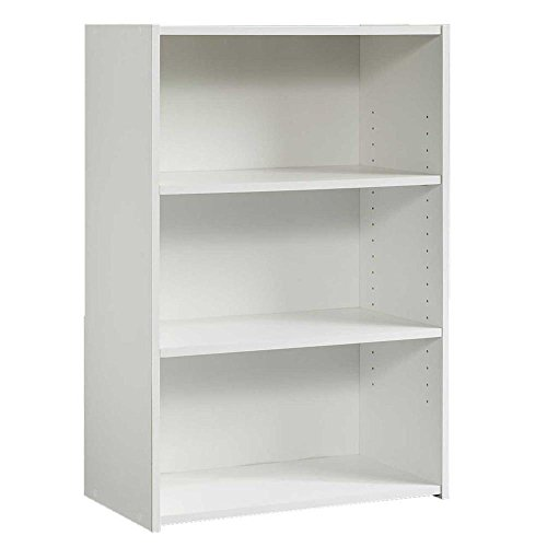 Beginnings Collection 35 in. 3-Shelf Bookcase in Soft White White 3 Shelf Bookcase