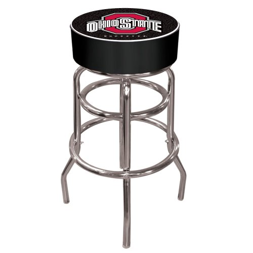 Ncaa Ohio State Logo Pub Table, Black Bar Stool Black front-673541