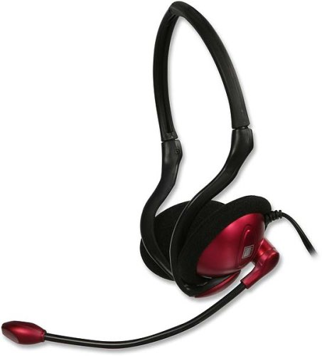 Speedlink SL-8713-SRD Foldable Back Head Phone PC-Headset, rot