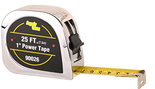 Tape measure Heavy Duty tape ruler, with belt clip holder 25-Foot (7.5 metric) by 1-Inch. (Software Metrics And Measurement compare prices)