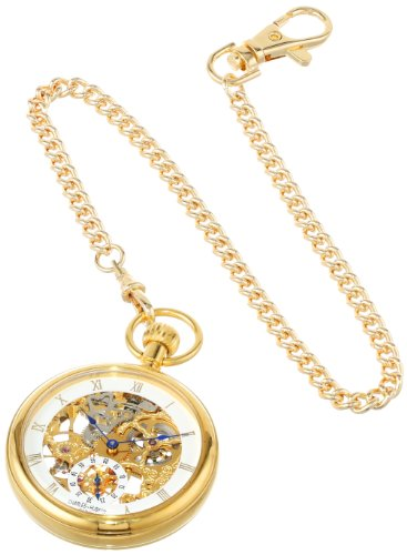 Charles-Hubert, Paris Gold-Plated Open Face Mechanical Pocket Watch