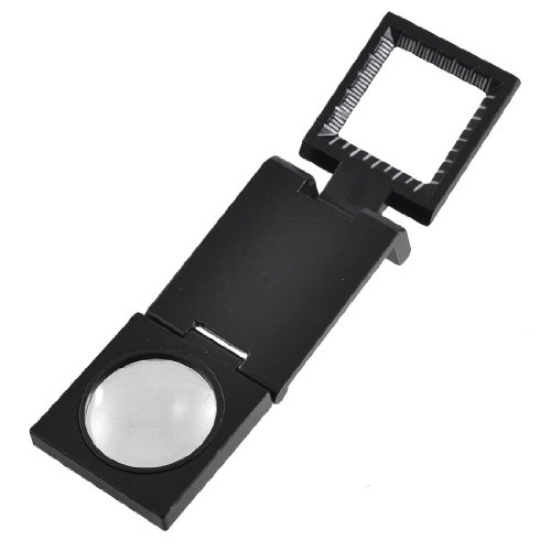 Black Metal Folding Magnifier Magnifying Glass Jewelry Loupes 10X - 1