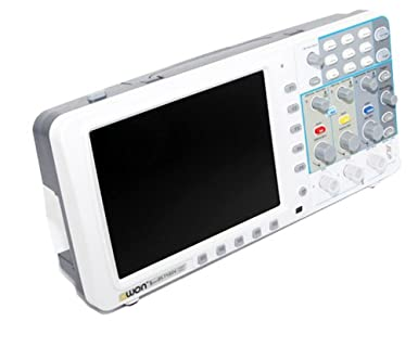 "Modelo: SDS7102v Ancho de banda: 100MHz Frecuencia de muestreo (tiempo real): 1GS / s (500MS / s por canal dual) Escala horizontal (S / div: 5ns/div ~ 100s/div, paso 1 ~ 2 ~ 5 Tiempo de subida: ≤ 3.5ns (en la entrada, típico) Canal: 2 + 1 (Externa) Pantalla: 8 ""a color LCD, TFT, 800 × 600 píxeles, 65.535 colores"