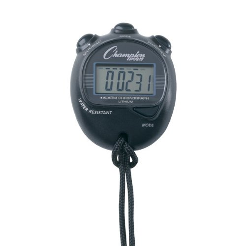 Champion Sports Big Digit Display Stopwatch Color: Black (920BK) (Mens Champion Watches compare prices)