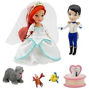 ''Once Upon a Wedding'' Disney Princess Darlings Doll Set - Ariel and Prince Eric