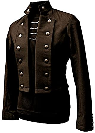 Steampunk Men's Coats Shrine Gothic Vintage Military Army Victorian Steampunk Pirate Coat Jacket $229.99 AT vintagedancer.com