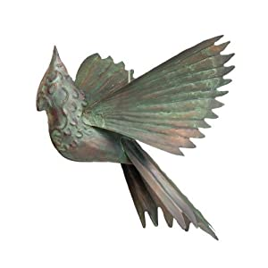 Amazon.com: Ancient Graffiti Hanging Verdigris Cardinal Outdoor ...
