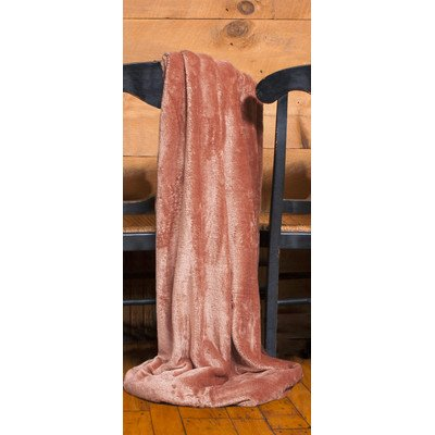 Shimmersoft Polyester Throw Color: Rust