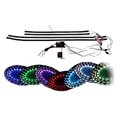 See 7 Color LED Under Car Glow Underbody System Neon Lights Kit 38