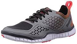 Reebok Womens Reebok Zquick Lux 3.0 Grey,Silver,Red And White Running Shoes - 4 UK