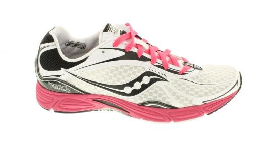 Saucony Women's Grid Fastwitch 5 Running Shoe,White/Black/Pink,12 M US