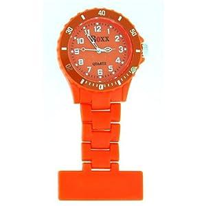 BOXX Reloj De Bolsillo De Enfermera Bisel Rotativo Color Naranja Eléctrico de Time Accessories