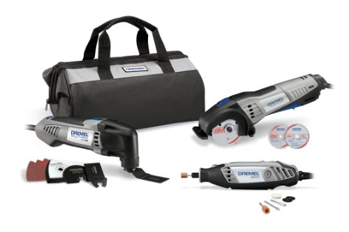 Dremel CKDR-02 Ultimate 3-Tool Combo Kit with 15 Accessories and Storage Bag
