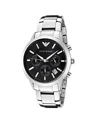 Emporio Armani Men's AR2435 Chronograph Black Dial Stainless Steel Watch