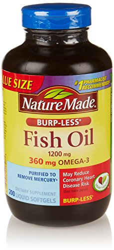 Nature Made Burp-Less Fish Oil & Omega 3, 200 Ct (Pack Of 3)
